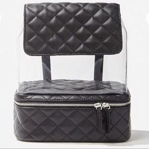Translucent and Black Quilted Backpack